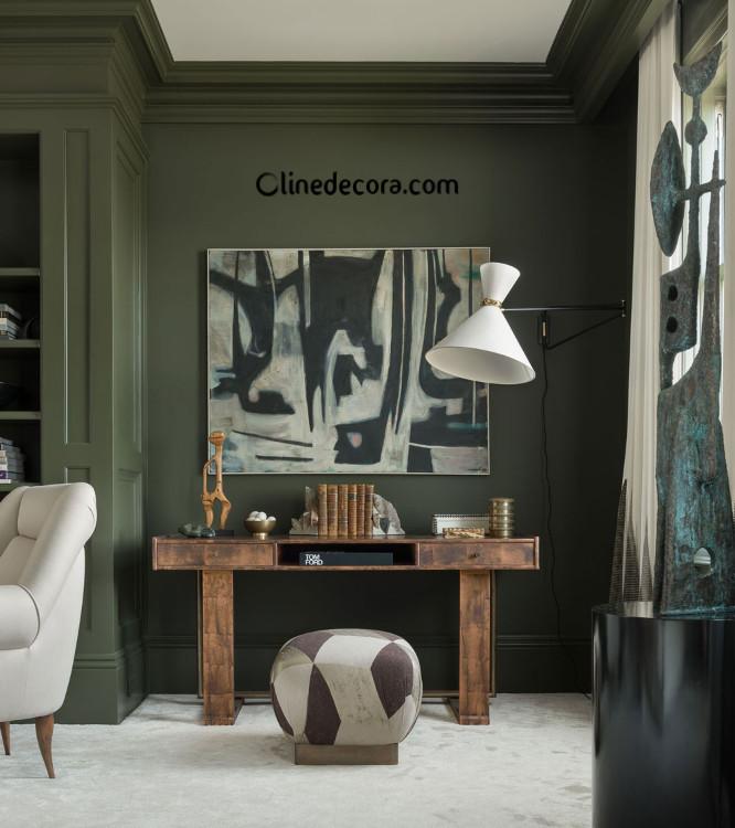 ترکیب رنگ سبز در دکوراسیون داخلی