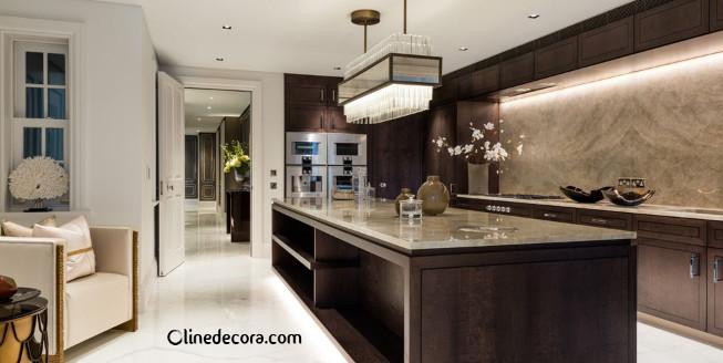 سنگ کاری های بلند در آشپزخانه در طراحی داخلی آشپزخانه 2019