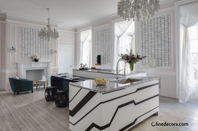 کلاسیک و مدرن در طراحی داخلی آشپزخانه 2019