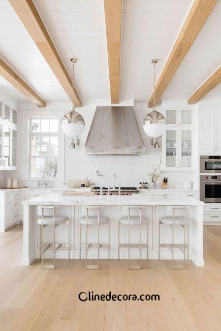 تجهیزات روشنایی آویزی در طراحی داخلی آشپزخانه 2019