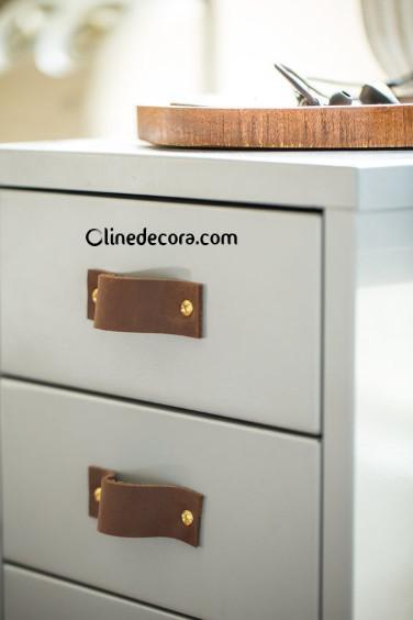 کشوهای چرمی و چوبی در طراحی داخلی آشپزخانه 2019