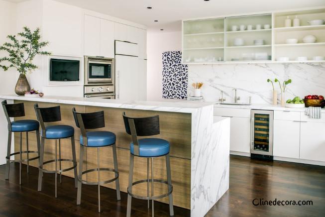 لوازم داخلی رنگی در طراحی داخلی آشپزخانه 2019