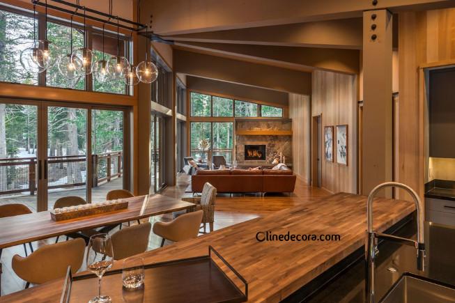 استفاده از چوب در طراحی داخلی آشپزخانه 2019